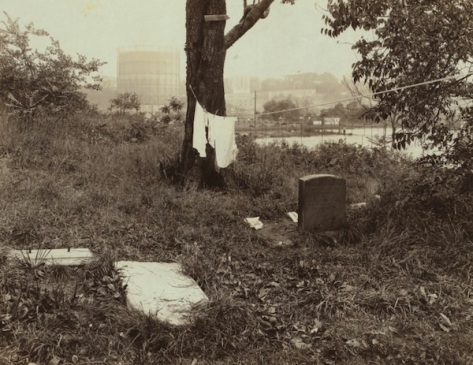 Some of the remaining headstones in the Nagel Cemetery, ca. 1925
