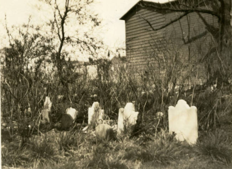 View of the Burroughs Family Cemetery, ca. 1922 (NYHS)
